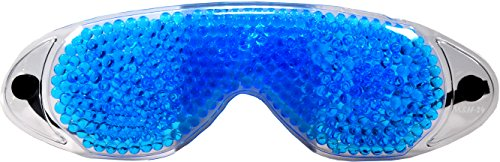 M&H-24 Premium Kühlmake Gelaugenmaske Schlafmaske - Gel Augen Maske Kalt & Warm gegen geschwollene Augen und Augenringemit mit Gel-Perlen Blau 2 Stück