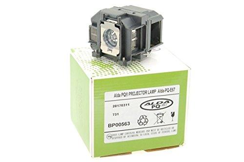 Alda PQ-Premium, Beamerlampe / Ersatzlampe für EPSON EB-S01, EB-S02, EB-S100, EB-S11, EB-S11H, EB-S12, EB-SXW11, EB-SXW12, EB-W01, EB-W02, EB-W110, EB-W12 Projektoren, Lampe mit Gehäuse