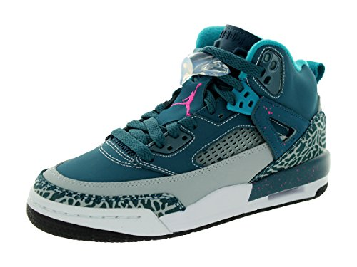 Foto de Nike Jordan Jordan Spizike Bg SPC azul / FSN rosa / lobo gris / trpcl zapato T 4 del baloncesto con