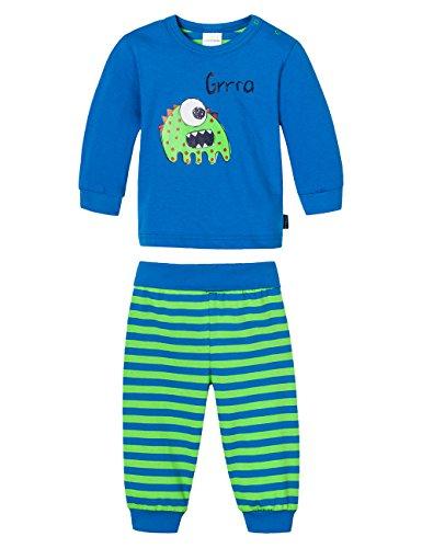 Schiesser Baby - Jungen Zweiteiliger Schlafanzug Baby Anzug 2-Teilig, Gr. 86, Blau (Blau 800)