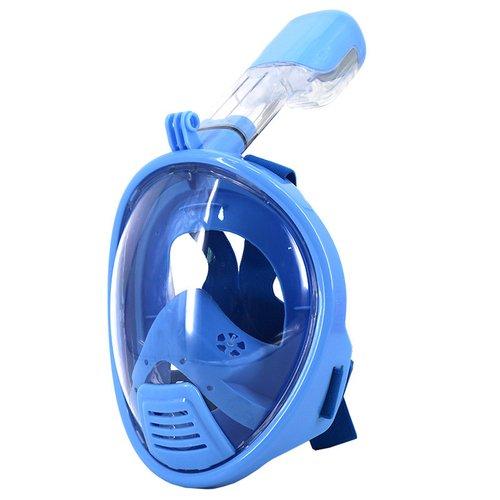 luoov Kinder Full Face Schnorchel Masken easybreath mit Anti-Auslauf-Technologie, langlebige Medizinisches Silikon XS blau