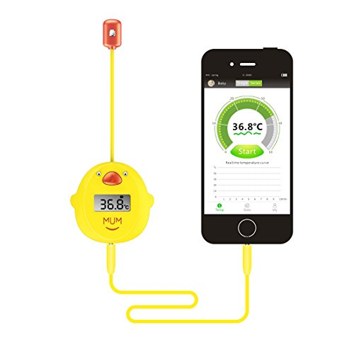 Preisvergleich Produktbild MUMWITH Baby / Erwachsener Intelligente Digitale Thermometer Körper Temperatur Fieber Tester Monitor mit Sensor von Achsel Axillaris