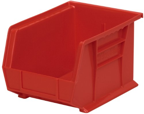 AKRO-MILS 30235 11-INCH BY 11-INCH BY 5-INCH PLASTIC STORAGE STACKING HANGING AKRO BIN  BERRY  6-PACK