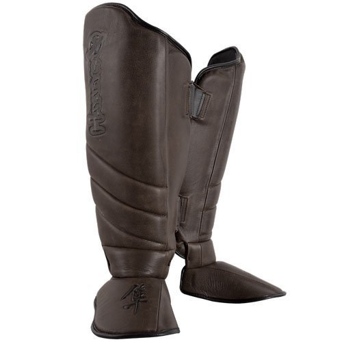 Hayabusa Boxhandschuhe Elite 2.0 Striking Shin Guards, X-Large, Brown by Hayabusa (Guard Hayabusa Shin)