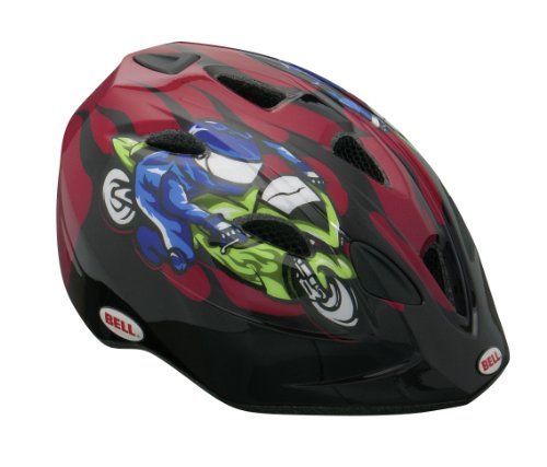 BELL Tater - Casco Ciclismo Rojo Red Moto GP Flames