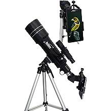 Orbinar Telescopio 400/70 Telescopio Terrestre Incl. Mochila De Viaje + Equipamiento Completo + smartphone adaptador DKA5