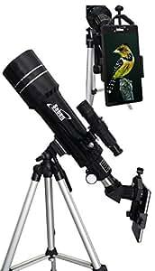 Orbinar 400/70 télescope voyage lunette terrestre incl. équipement complet et sac à dos +Seben adaptateur smartphone portable Digiscoping Adapter DKA5