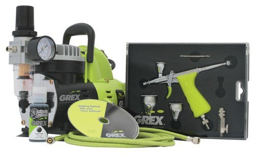 Grex GCK03 Airbrush Combo Kit with Tritium.TG3 Airbrush, AC1810-A Compressor, Accessories and DVD by Grex Airbrush -