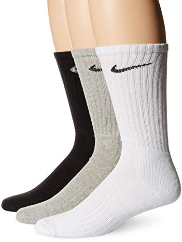 Nike U NK V CUSH CREW-3P Value Socks, Multi-Color, S (Herren Nylon Gerippt)