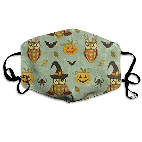 Masken für Erwachsene Great Mask Reusable Anti Dust Face Mouth Cover Vintage Halloween Owl Spider Pumpkin Mask Warm Windproof