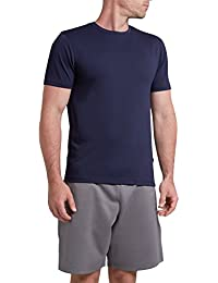Lyle & Scott – Camiseta Sutton en relieve de piqué – Z05 Azul Marino, Mediana