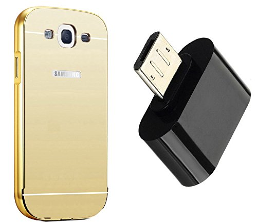Novo Style Luxury Mirror Effect Acrylic back + Metal Bumper Cover for Samsung Galaxy Grand Duos i9082 / GT-I9060  Golden +  Little Adapter Micro USB OTG to USB 2.0 Adapter for Smartphones & Tablets  available at amazon for Rs.329