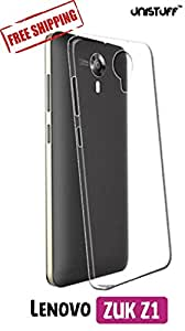 Unistuff™ Rubberised Flexible Back Case Cover Lenovo Zuk Z1(Transparent)