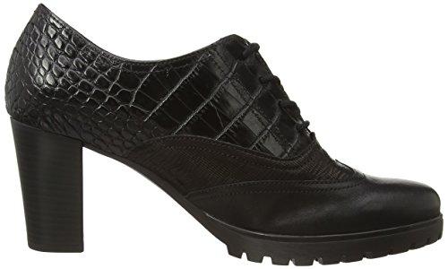Gabor Rendezvous, Chaussure de ville Femme Noir (black Leather/black Croc)