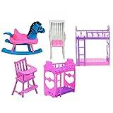 FEIDAjdzf Spielzeug für Jungen Mädchen Kleinkind DIY Kinder Mädchen Spielhaus Puppe Etagenbett Baby Stuhl Puppenhaus Zubehör Spielzeug Geschenk