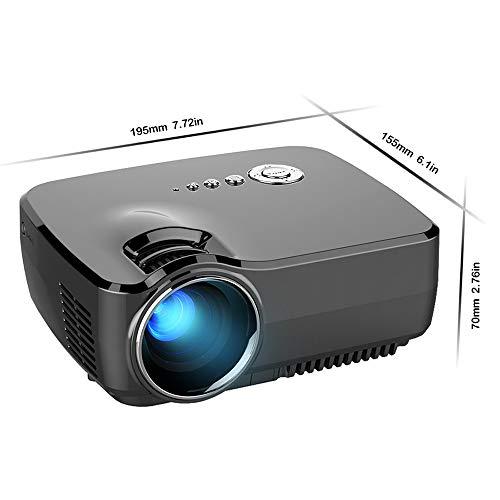 YUHUANG WiFi Bluetooth-kompatibler Videoprojektor 4K * 2K für Theater-Beamer und HDMI USB VGA AV