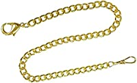 Pocket Watch Chain Gold Tone FOB Curb Link Design 14 inches by ShoppeWatch PC-74G