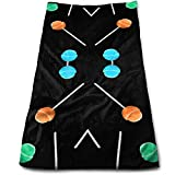 Doormat-bag Lollipop on Black Soft Cotton Large Hand Towel- Multipurpose Bathroom Towels for Hand, Face, Gym and Spa