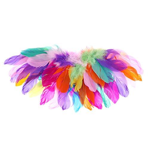 (Tiaobug Vogelflügel Kinderkostüm Authentische Federflügel Leuchtende Farben Kostüm Partei Papagei Karneval Fasching Halloween Bunt A Small)