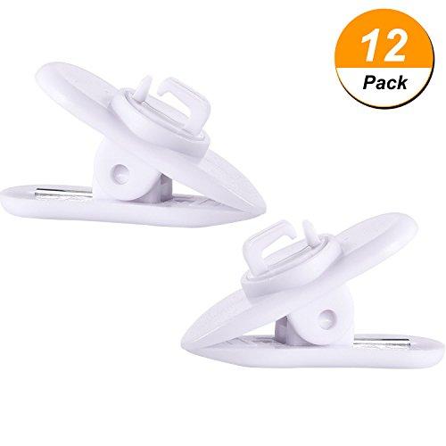 12 Stück Klammer für Kopfhörer Draht 360 Grad Drehen Kabel Kleidung Shirt Klammer Einhängen Klammer, - Apple-weiß-kleidung