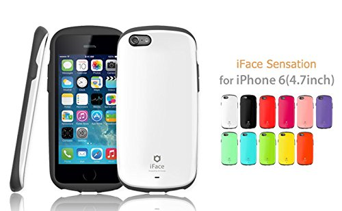iFace Apple iPhone 6 Case Sensation Collection - Premium Slim Fit Dual Layer Protective Hard Case-Apple New iPhone 6 Case 6 2014 Model (4.7 inch)(Orange) Black