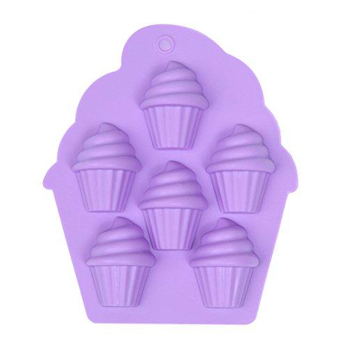 icone Mold für Pudding Gelee Kegel Schokoladen Formen Multifunktional für Eis 13.4*11.3*2.2cm Zufällige Farbe, Silikon Formen Serie ()