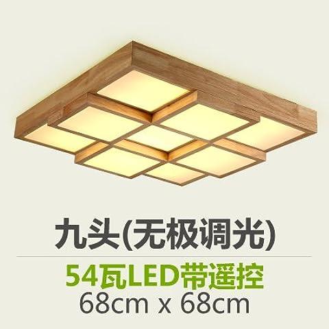 Registra Nuovi cinesi in vero legno nessuna Polarità luci Led
