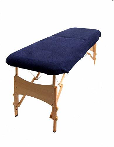 TowelsRus Aztex Tapa de sofá de masaje de valor clásico sin agujero para la cara, azul marino elástica