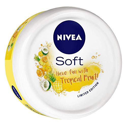 NIVEA Soft Light Moisturizer Tropical Fruit With Vitamin E & Jojoba Oil, 100 ml