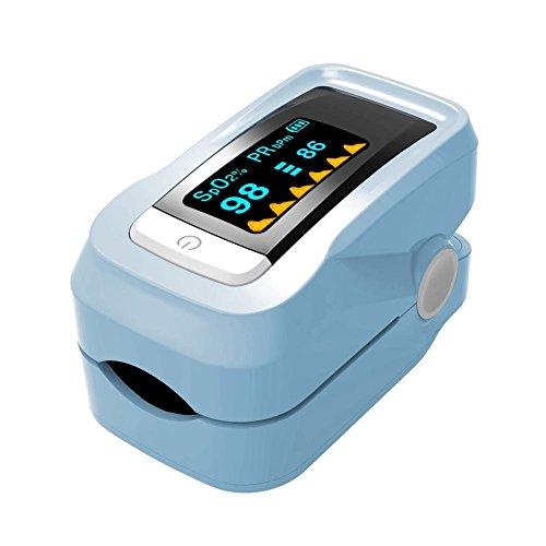 Preisvergleich Produktbild Fingertip Pulsoximeter Sphygmomanometer Home Tragbare Blutsauerstoffsättigung Überwachung Herzfrequenz Instrument mit Tragetasche Automatische Abschaltung und schnelle Lesung Fit Familie Health Care
