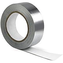 TRIXES Cinta de Papel de Aluminio 40mm X 50m Cinta Aisladora, Adhesiva Reflectante del Calor
