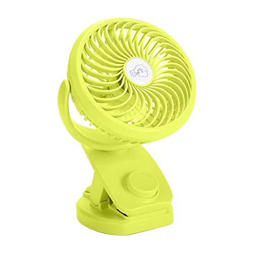 Younthone 360 ° Drehung Mini Fan Kinderwagen Clip LüFter USB-LadelüFter Süß Mini Nachttisch Ventilator