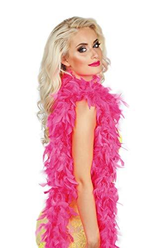 50 gramos de boa de plumas, de color rosa 1,80 m