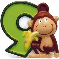 Kerze 6 Safari Tiere Dschungel Zahlenkerze Kinder Motive Geburtstagskerze