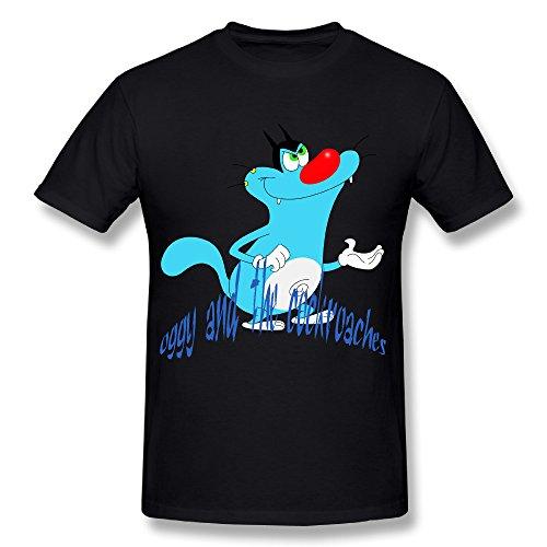 zenthanetee-da-uomo-maledetti-scarafaggi-animali-maledetti-printerest-t-shirt-black-small