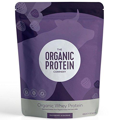 The Organic Protein Company | Raspberry & Baobab Whey Prot | 1 x 400g