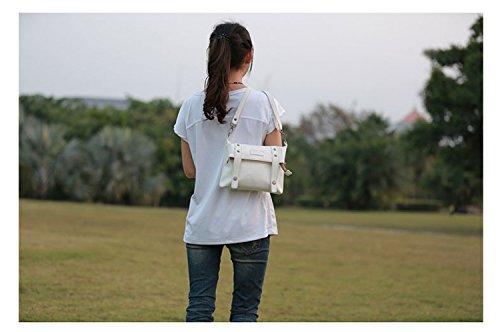 lycailcy da donna in pelle PU borsa a tracolla spalla Croce Corpo Borse da viaggio Borse marrone Camel(8.7 * 2 * 5.9 inches) taglia unica white(8.7 * 2 * 5.9 inches)