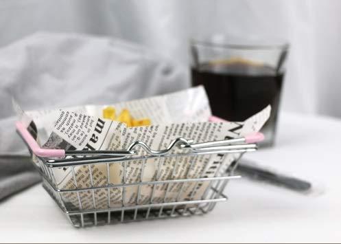 JIXIAN Home Schwarze Deckchen aus Papier im Zeitungsstil 18 * 18 cm - Packung mit 200 Stück, sicher und gesund, zum einmaligen Gebrauch, dekorative Tischsets aus Geschirr (Papier Deckchen Schwarz)