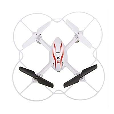 Syma X11 2.4GHz 4CH 6-Axis Gyro 360-degree Eversion Mini Remote Control Helicopter R/C Quadcopter Drone UFO with LED Lights Propeller Protector (White)