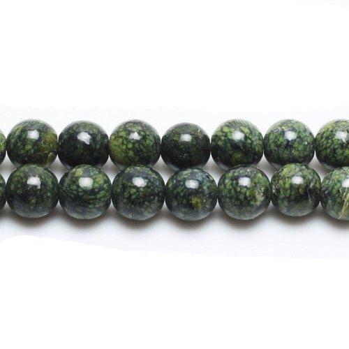 Charming beads filo 45+ verde diaspro africano 8mm tondo liscio perline - (gs1626-3)