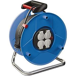 Brennenstuhl Garant Kabeltrommel (25m - Spezialkunststoff, Einsatz im Innenbereich, Made In Germany) blau
