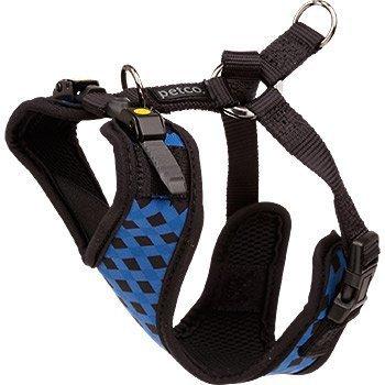 petco-verstellbar-mesh-geschirr-fur-hunde-in-schwarz-blau-checker-print-xs