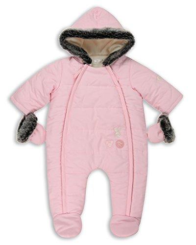 The Essential One - Baby Mädchen Kunstpelz Schneeanzug Snowsuit - Rosa - 56/62cm | 0-3m - EO251