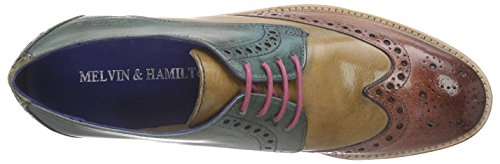 Melvin & Hamilton Amelie 3 Damen Derby Mehrfarbig (Classic Rose, Desert, Turquoise, Mint Green, LS)
