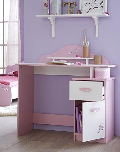 *Demeyere 365472 Papillon Bureau avec Tiroir/Porte Ouvrante Rose Orchidée/Blanc 100,7 x 50,1 x 95,7 cm Prix