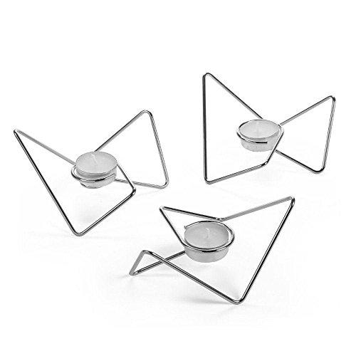 Black + Blum - Teelichthalter - Triangular Loop - Silber - Chrom Black Blum Loop
