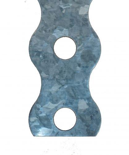 BÄR-Lochbandeisen gewellt 10 Meter Abmessung 26 x 1mm 8,5mm Loch sendzimirverzinkt, 1 Stück