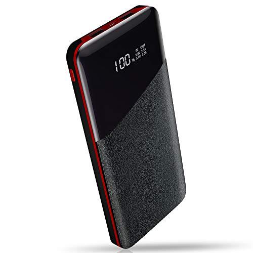 Yutre Power Bank, 24000mAh Batería Externa, Cargador Portátil de Gran Capacidad con Pantalla LCD Digital y 2 Puertos de Salida 2.1A Carga Rapida para Moviles Android & iOS, Tabletas y Más, Negro