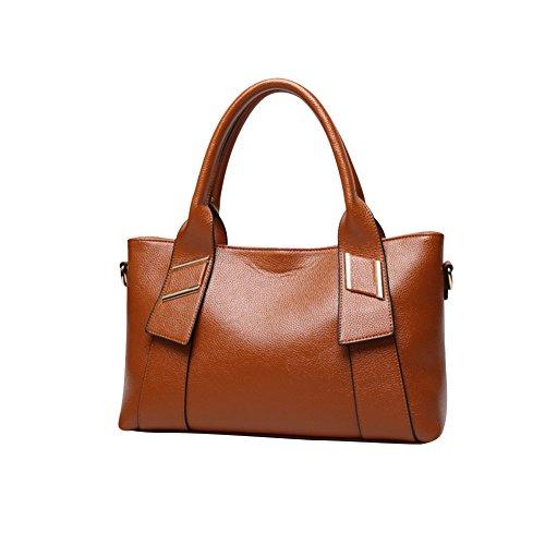 WTUS Damen Neue Große Tasche Art und Weise Handtaschen Satchel Beuteltote Braun