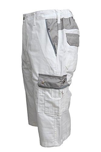 TMG Short Kurze Hose Shorts Arbeitshose Bundhose Weiß Gr. 54
